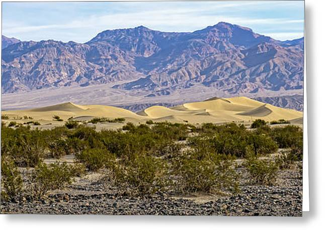 Mesquite Flat Sand Dunes Greeting Card by Charles Dobbs