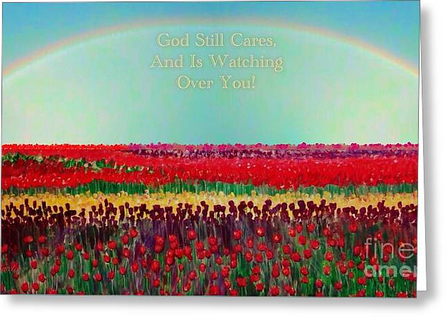 Message From The Other Side With A Bit Of Christmas Color Cheer Greeting Card by Kimberlee Baxter