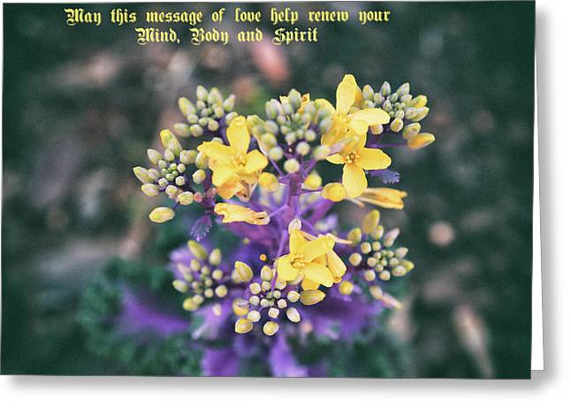 Message Of Love Greeting Card by Dennis Baswell