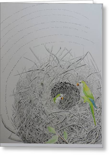 Message To The Birds Greeting Card by Mary Savage