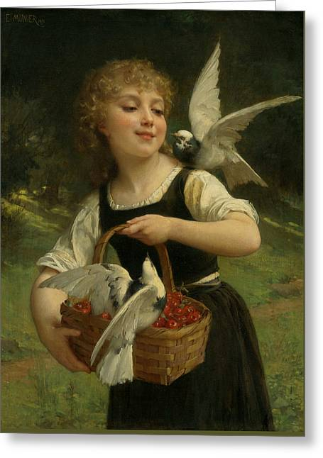 Messenger Of Love Greeting Card by Emile Munier