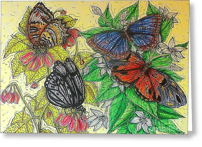 Messengers Of Beauty Greeting Card