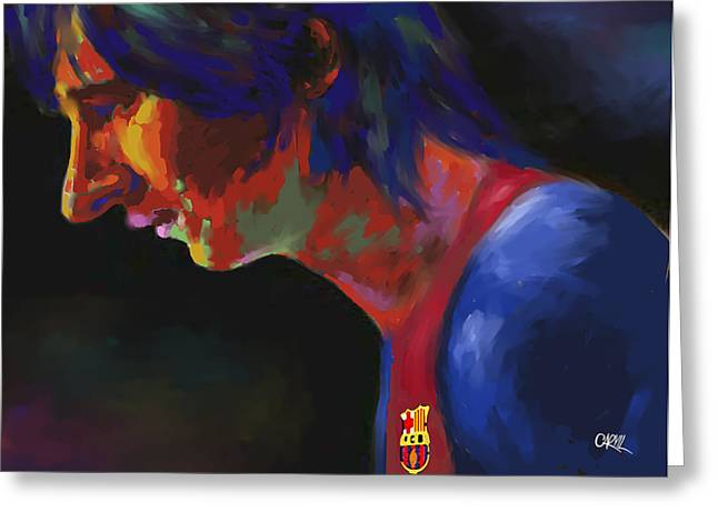 Messi Greeting Card by Carvil