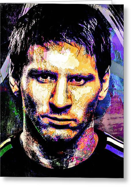 Messi Greeting Card by Svelby Art