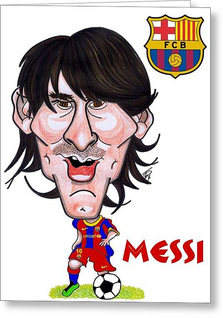 Messi Greeting Card by Tom Glover