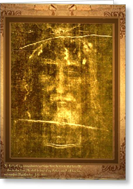 Shroud Digital Greeting Cards - Messiah Manifested Greeting Card by Anastasia  Ealy