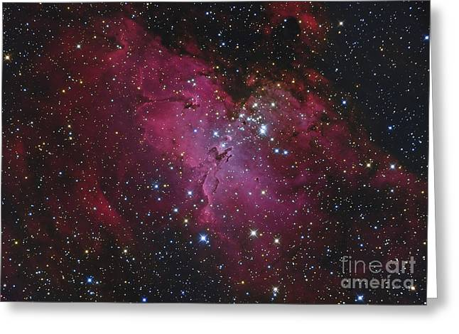 Messier 16, The Eagle Nebula In Serpens Greeting Card by Roberto Colombari
