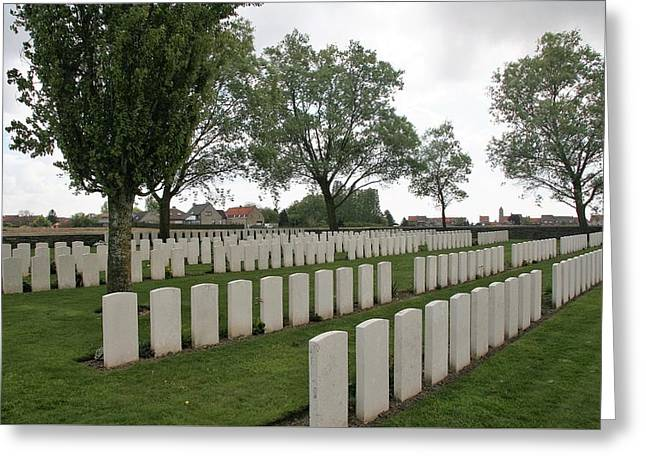 Messines Ridge British Cemetery Greeting Card by Travel Pics