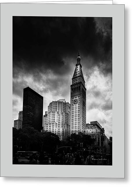 Greeting Card featuring the photograph Met-life Tower by Marvin Spates