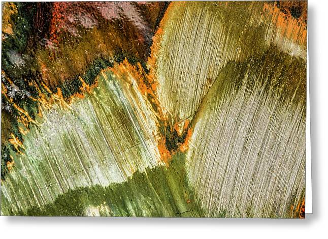 Greeting Card featuring the photograph Metal Abstract  by David Waldrop
