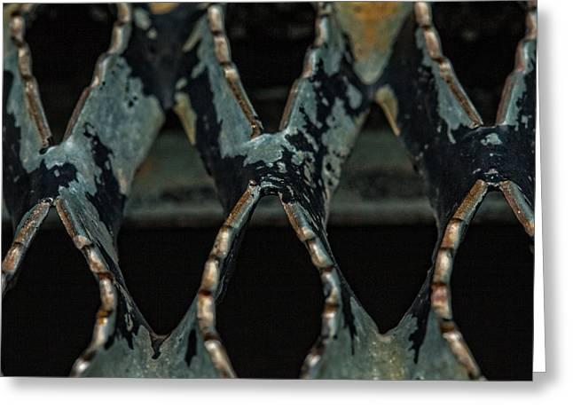 Metal Abstract Greeting Card by Karol Livote