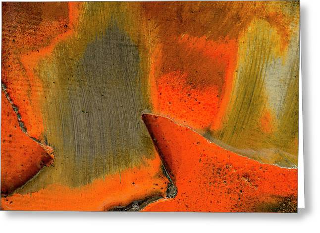 Greeting Card featuring the photograph Metal Abstract Three by David Waldrop
