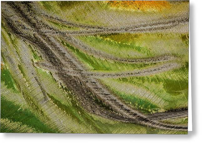 Greeting Card featuring the photograph Metal Abstract Two by David Waldrop