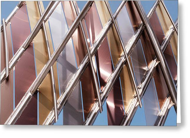 Metal Abstract With Lines And Angles In Lansing Michigan Greeting Card