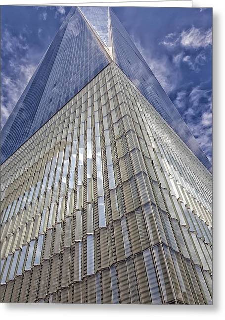 Metal And Glass Highrise Office Building Greeting Card by Robert Ullmann