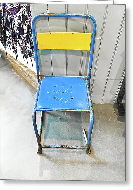 Metal Chair Greeting Card by Tom Gowanlock