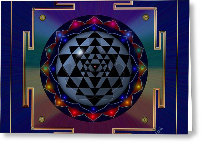 Metal Mandala Greeting Card