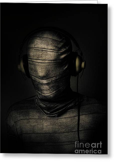 Metal Monster Mummy Greeting Card by Jorgo Photography - Wall Art Gallery