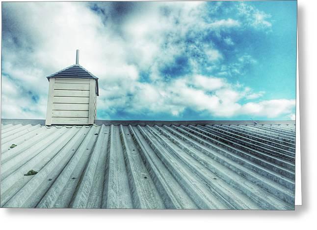 Metal Roof Detail Greeting Card by Tom Gowanlock