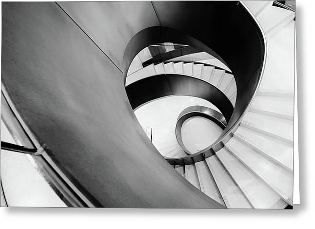 Metal Spiral Staircase London Greeting Card