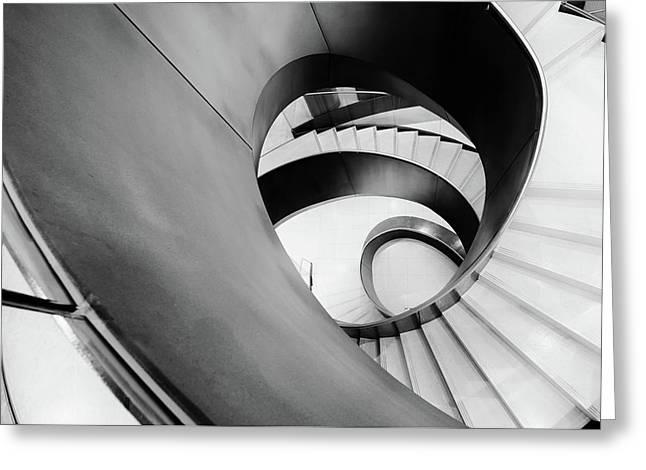 Metal Spiral Staircase London Greeting Card