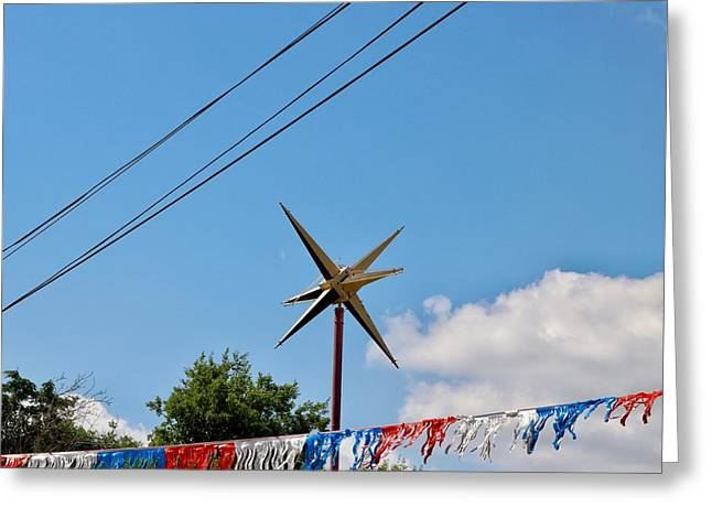 Metal Star In The Sky Greeting Card