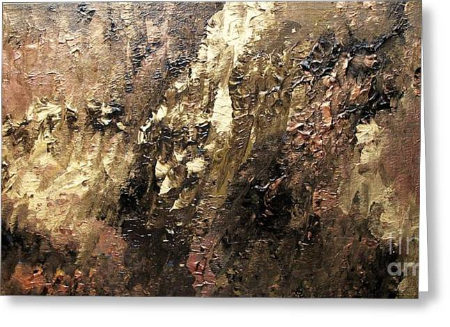 Metallic Abstract Greeting Card by Shelly Wiseberg