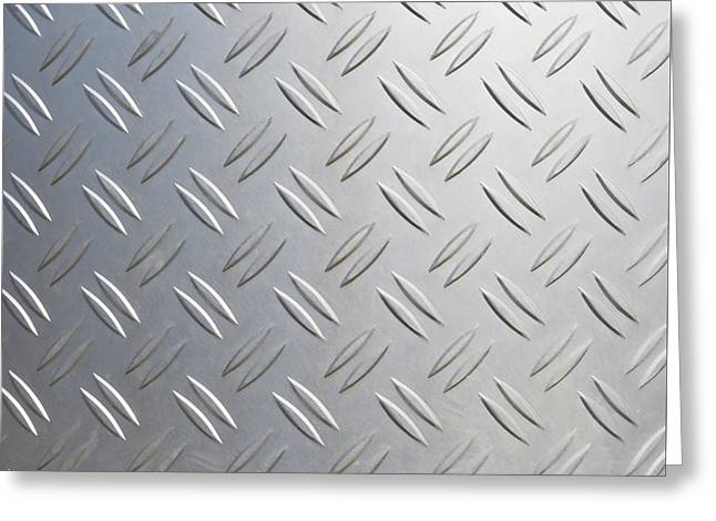 Metallic Background Greeting Card by Hans Engbers