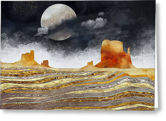 Metallic Desert Greeting Card