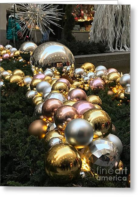 Metallic Gazing Balls Greeting Card by CAC Graphics