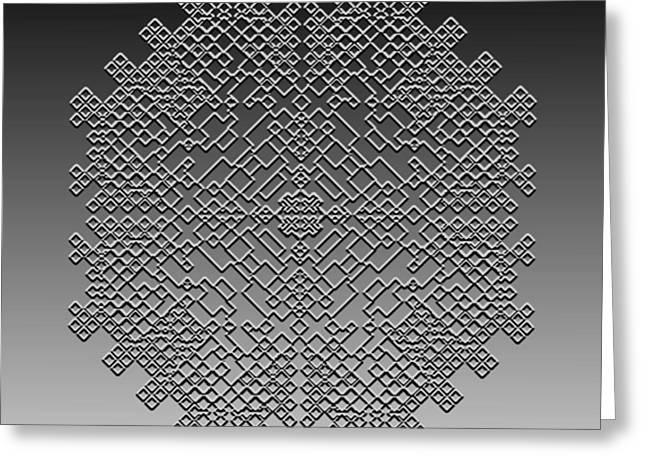 Metallic Lace Cxxix Greeting Card by Robert Krawczyk