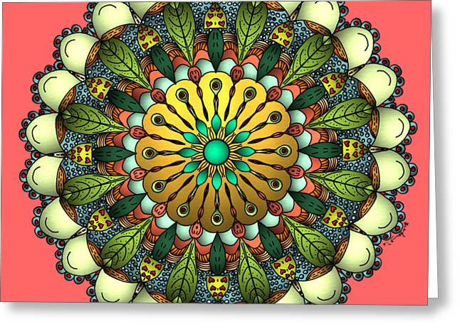 Metallic Mandala Greeting Card