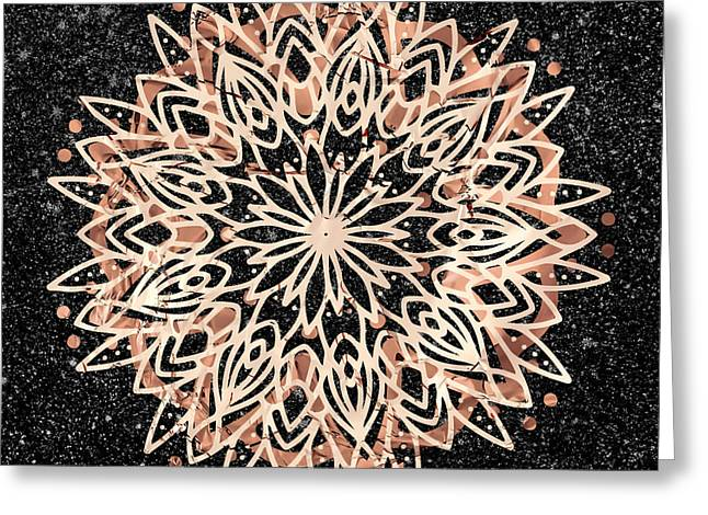 Metallic Mandala Greeting Card