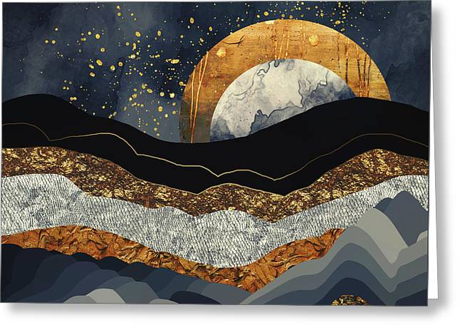 Metallic Mountains Greeting Card