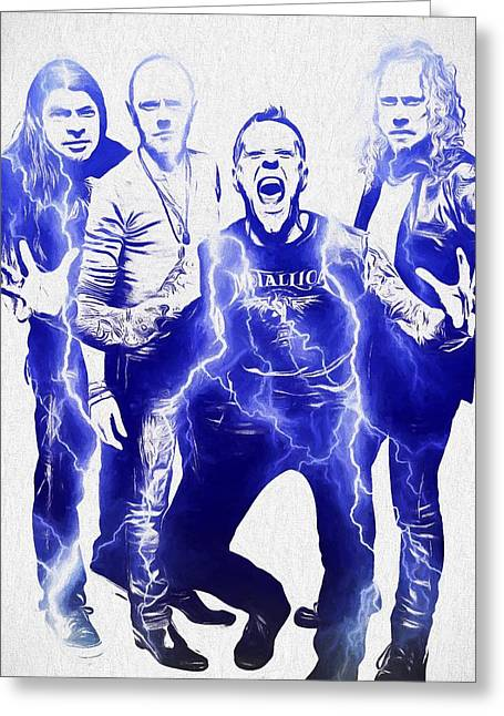 Metallica Greeting Card by Dan Sproul
