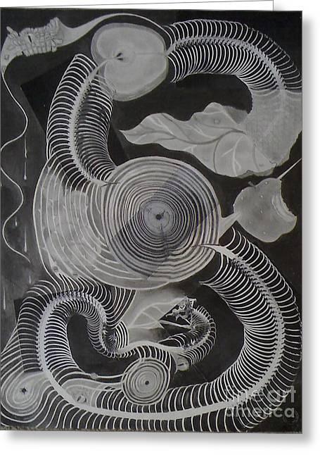 Metamorphosis Greeting Card by Katerina Wert