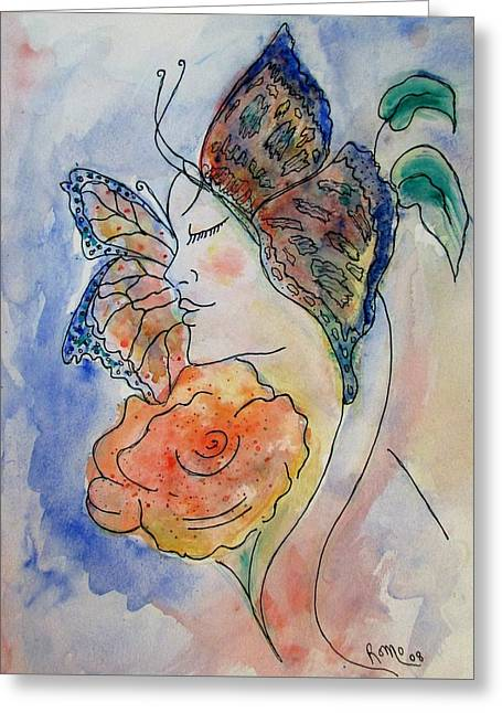 Metamorphosis Greeting Card by Robin Monroe