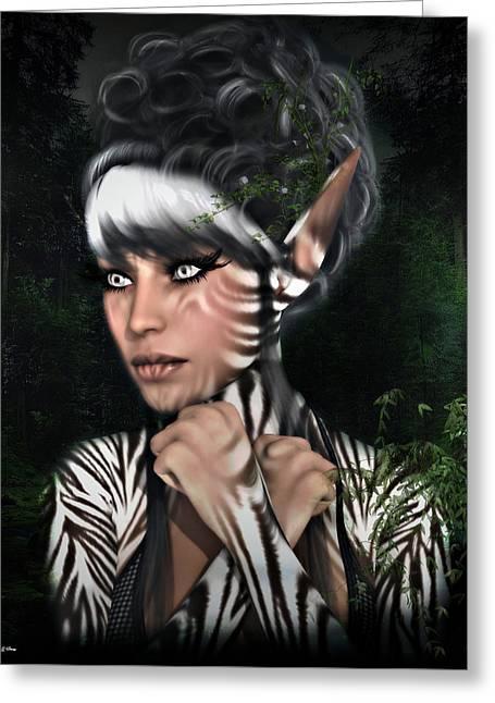 Metamorphosis Zebra Greeting Card