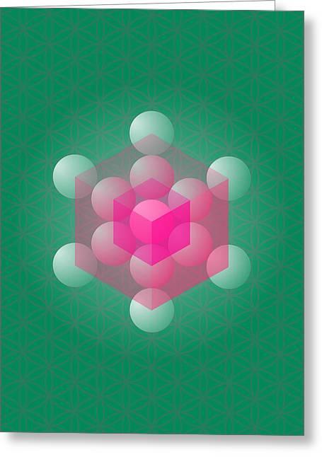 Metathron's Cube Greeting Card by Selim Oezkan