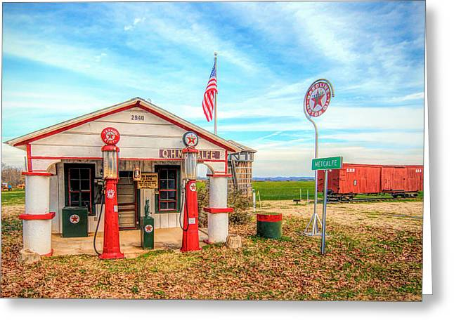 Metcalfe Station Greeting Card by Marion Johnson