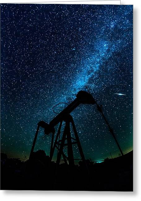 Meteor Above Grasshopper Greeting Card