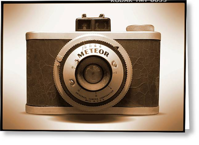 Meteor Film Camera Greeting Card by Mike McGlothlen