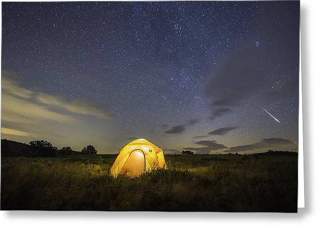 Meteor  Greeting Card by Michael Donahue