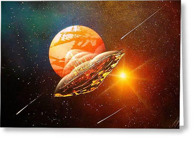 Meteorite Greeting Card by Angel Ortiz