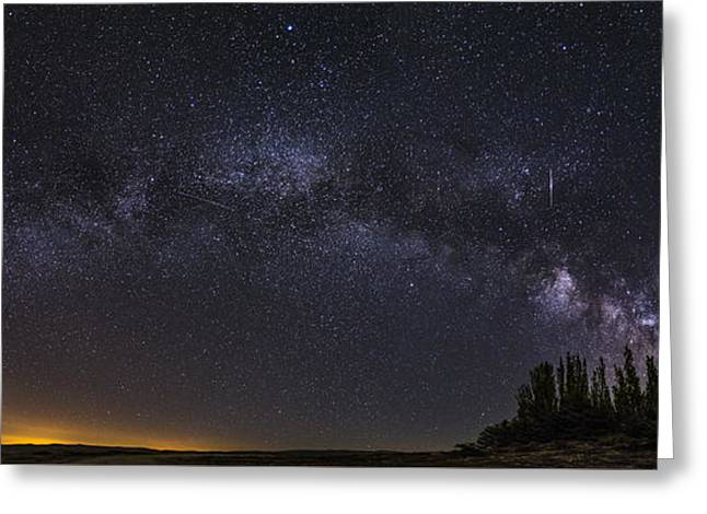 Meteorite Milky Way At The Mountains Greeting Card by Guido Montanes Castillo