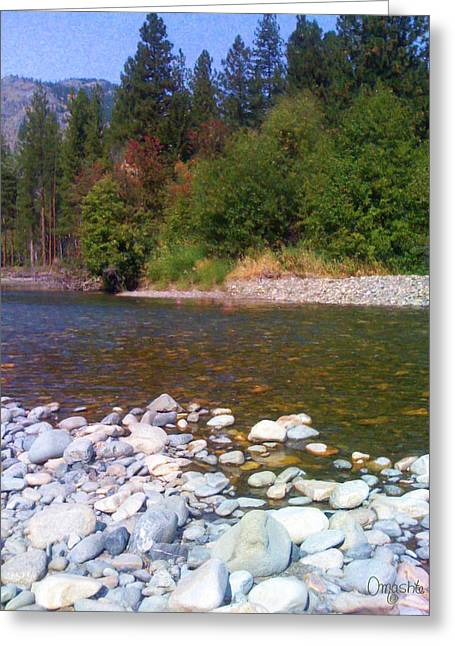 Methow River In Mazama Landscape Photography By Omashte Greeting Card