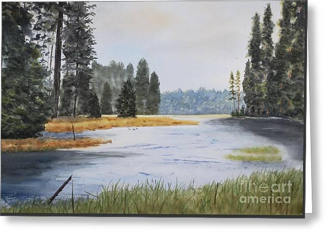 Metolius River Headwaters Greeting Card