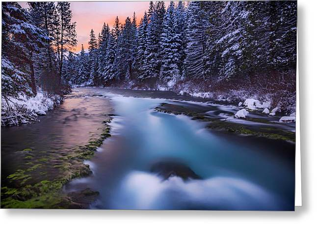 Greeting Card featuring the photograph Metolius Sunset by Cat Connor