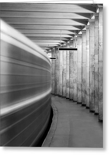 Metro #0110 Greeting Card by Andrey Godyaykin