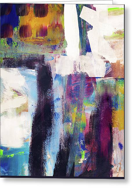 Metro 1- Abstract Art By Linda Woods Greeting Card